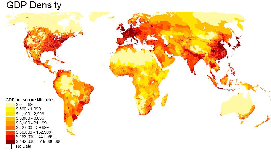 GDP density